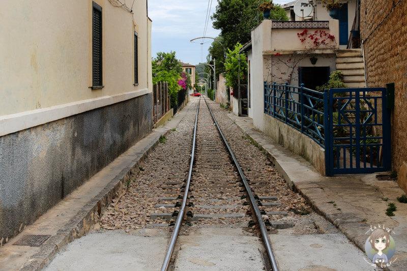Die Bahnlinie in Sóller, Mallorca