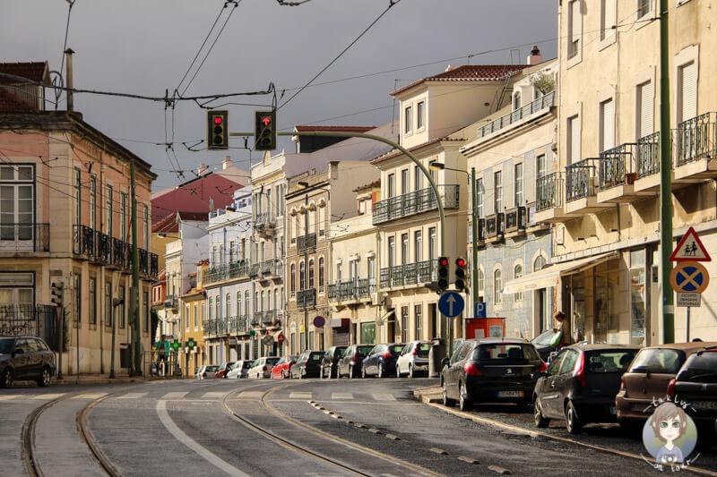 Auf unserem Spaziergang durch die Straßen von Belém, Lissabon