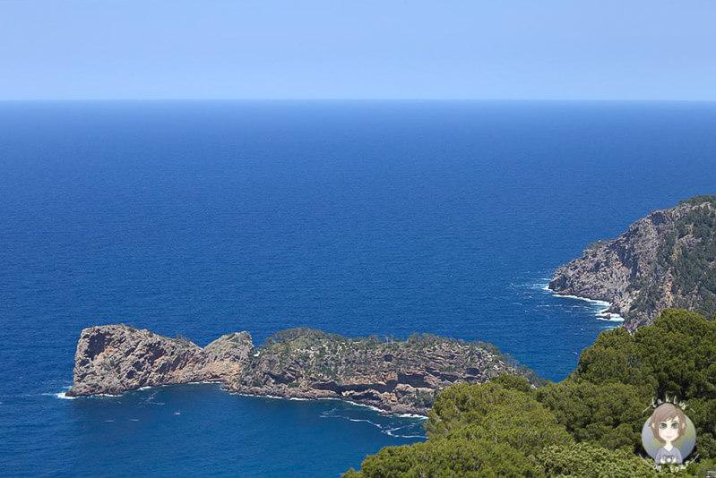 Blick über die tolle Steilküste auf Mallorca