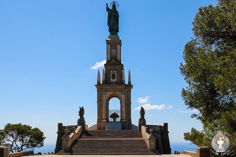 Christkönigmonument auf dem Puig de Sant Salvador, Mallorca