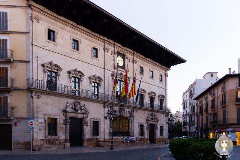 Das Rathaus in Palma, Mallorca