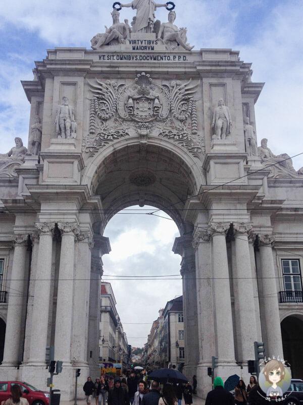 Der Triumphbogen, Arco da Rua Augusta in Lissabon