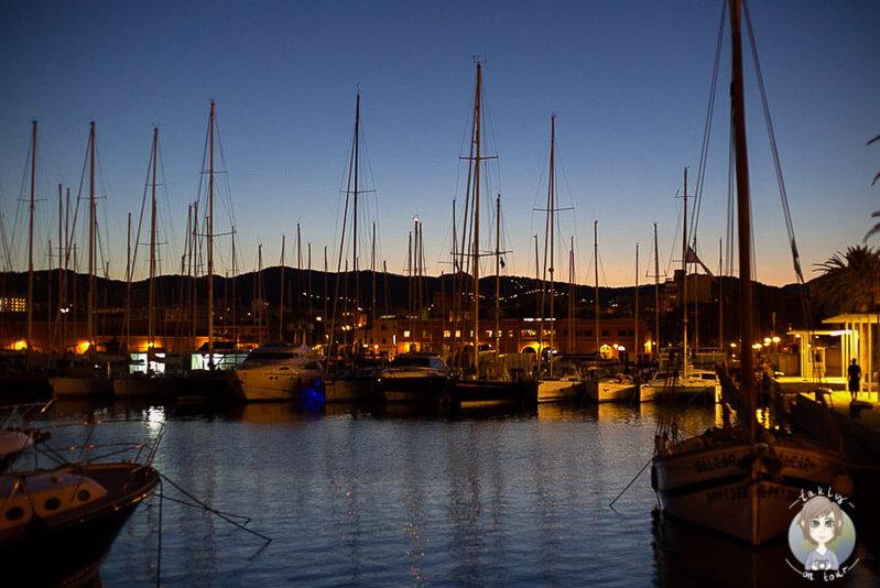Der Hafen von Palma am Abend