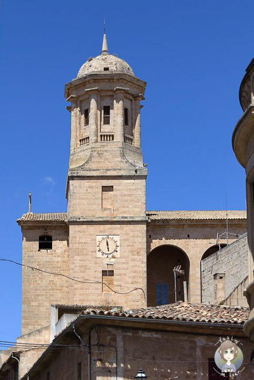 Der Kirchturm von Llucmajor, Mallorca