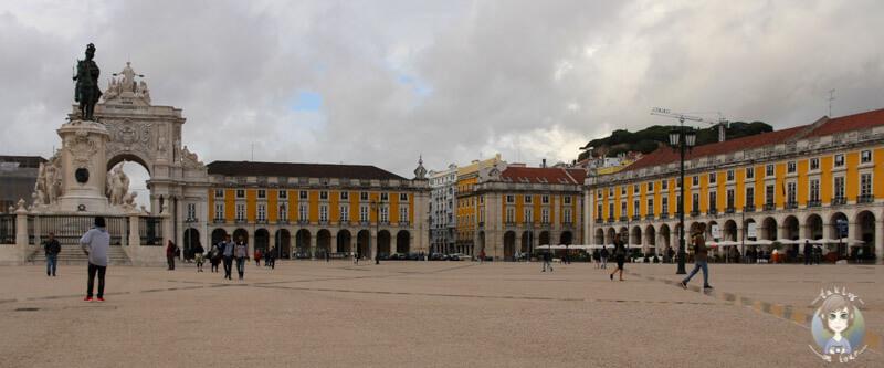 Der Praça do Comércio in Lissabon