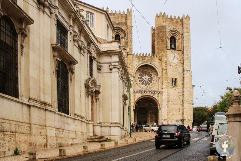 Blick auf die Kathedrale von Lissabon, Sé