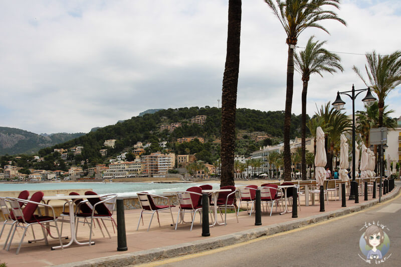 Die Promenade von Port de Sóller, Mallorca