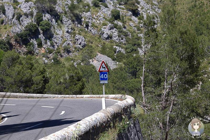 Straße Richtung Kloster Lluc