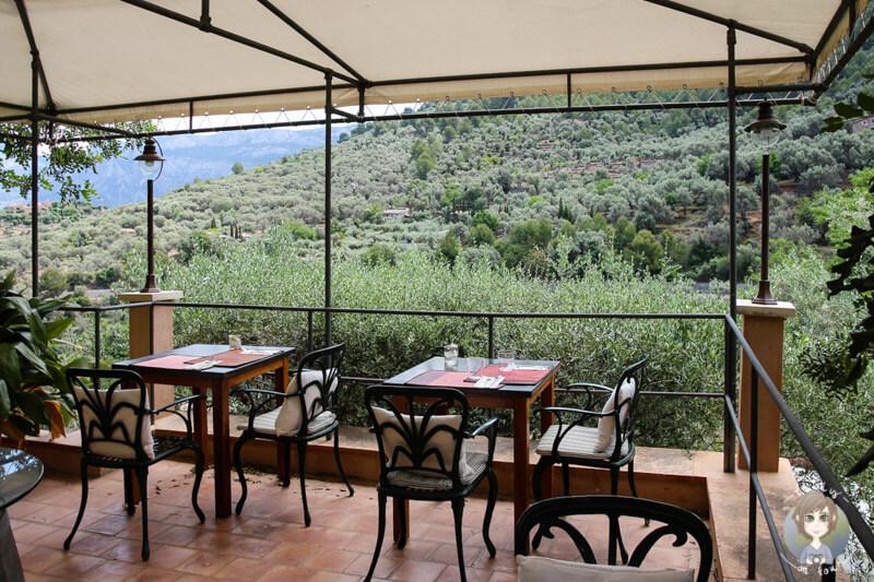 Das Restaurant 'Jardin' auf Mallorca