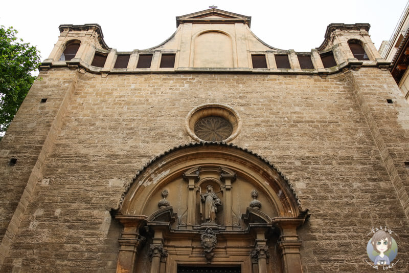 Eine Kirchenfront in Palma, Mallorca