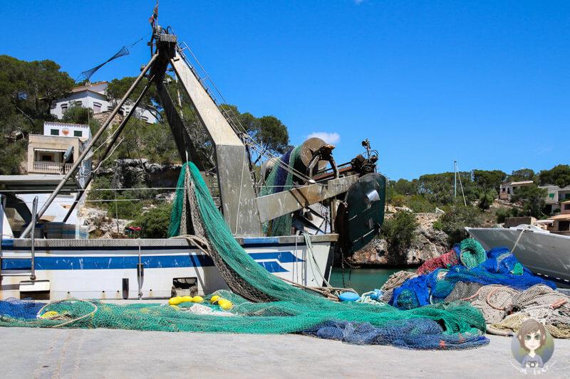 Fischernetze in Cala Figuera