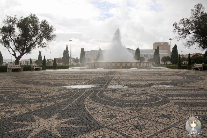 Springbrunnen 'Fonte Luminos' in Belém, Lissabon