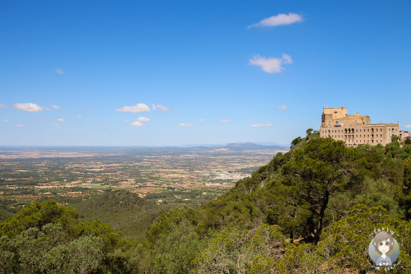 Das Kloster Sant Salvador über Mallorca