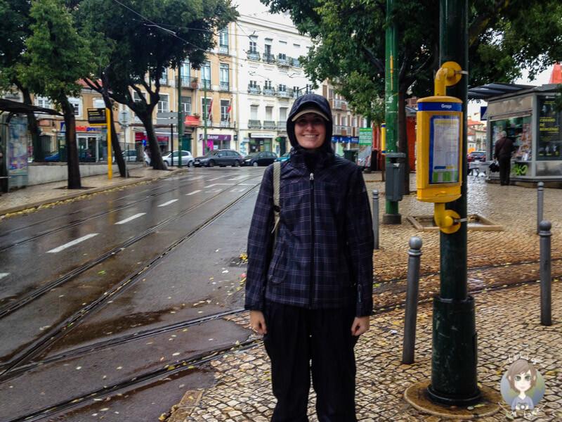 Lissabon erkunden im Regen