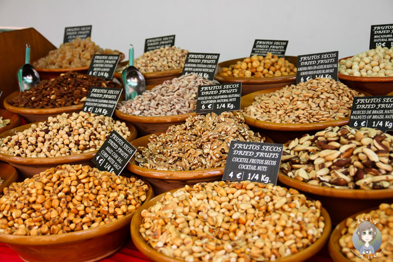 Nüsse auf dem Markt von Sóller