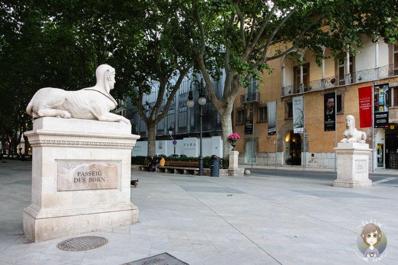Der Passeig des Born in Palma, Mallorca