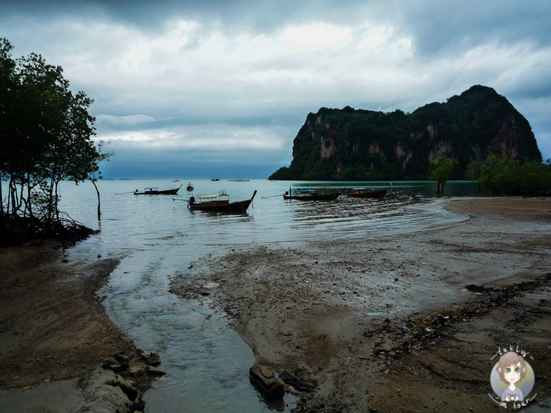 Regen in Railay Beach, Krabi, Thailand