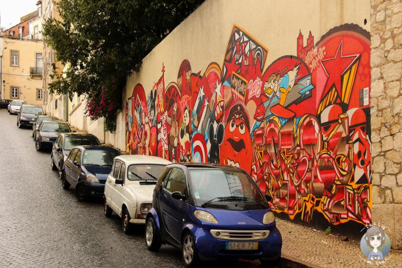 Straßenkunst an jeder Ecke in Lissabon