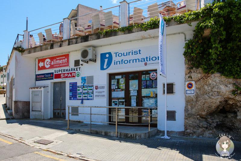 Touristeninformation in Cala Figuera, Mallorca
