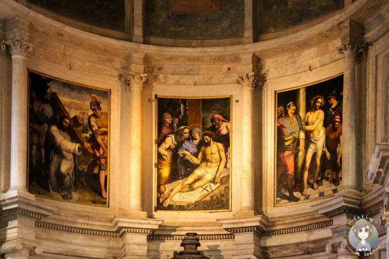 Malereien in der Kirche Santa Maria, Belém in Lissabon
