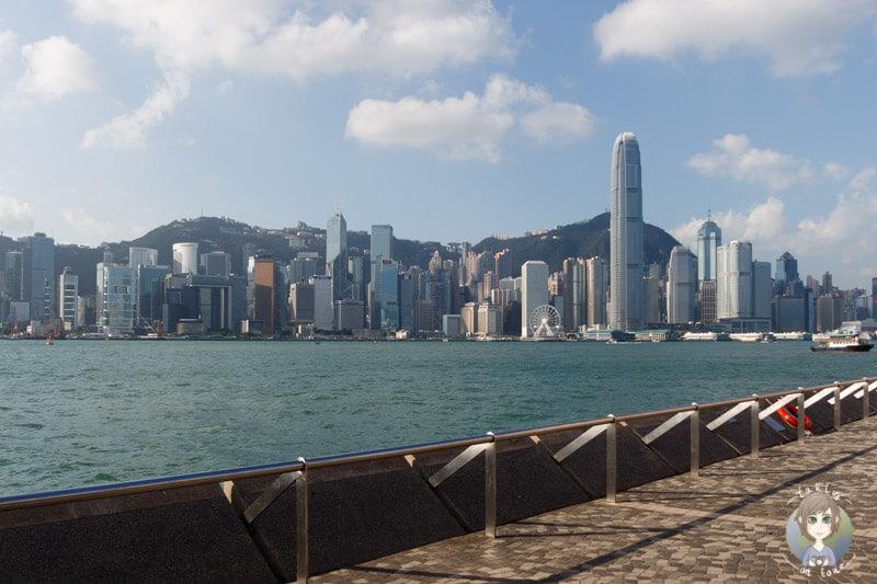 Klare Sicht auf die Skyline von Hong Kong