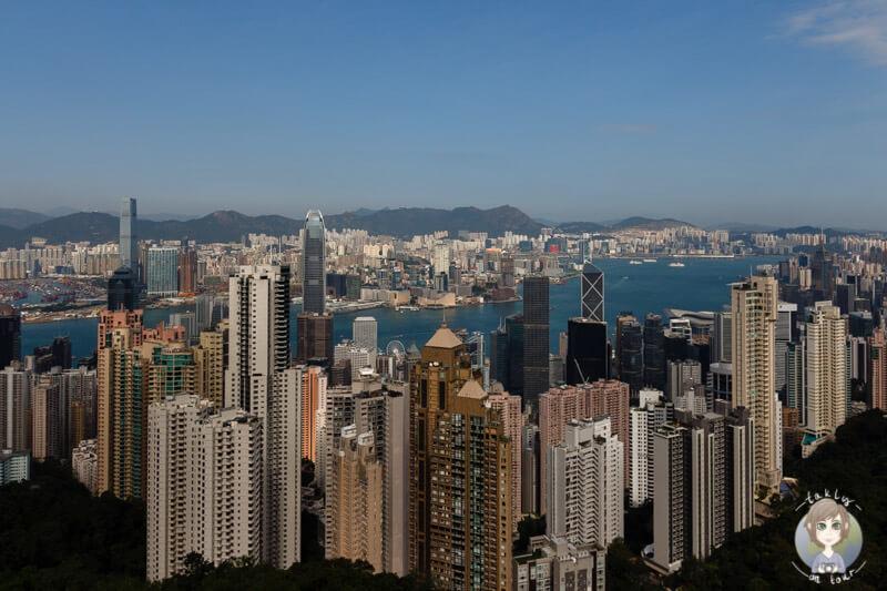 Die fantastische Stadtansicht von Hong Kong