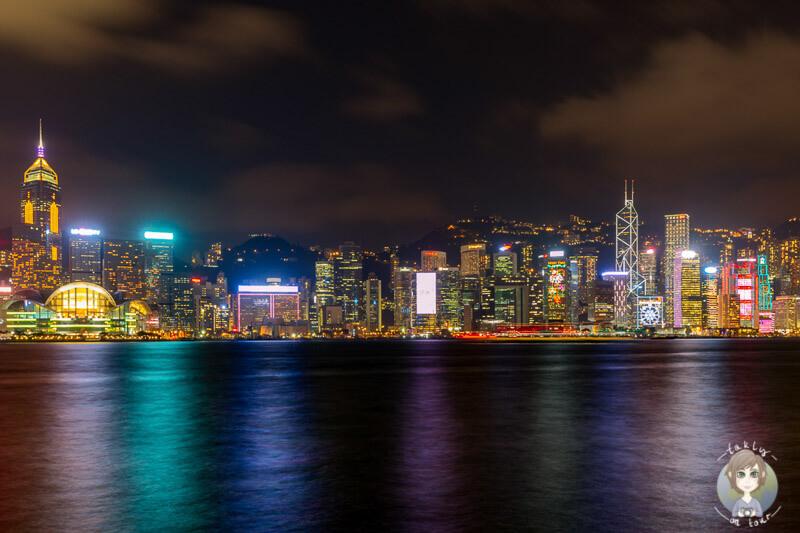 Skyline Hongkong bei Nacht