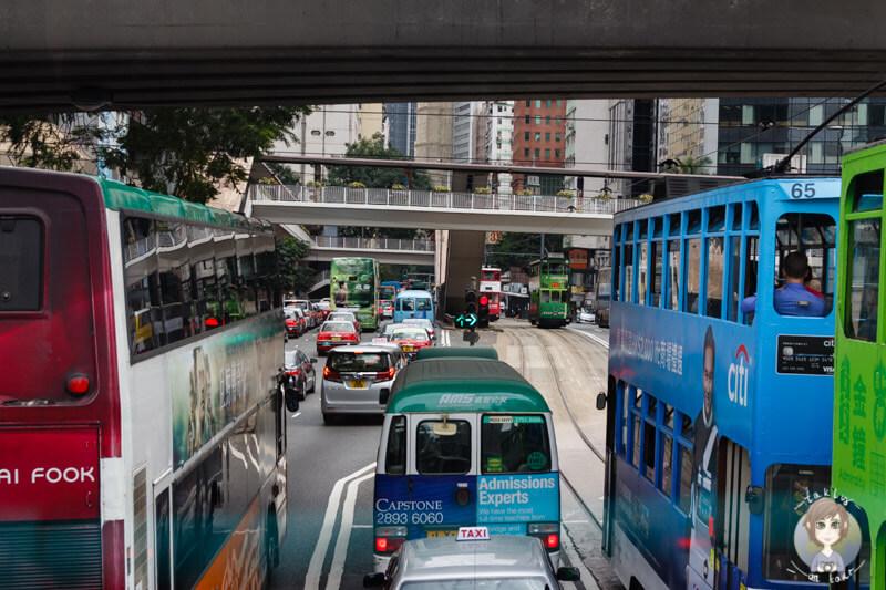 Eine Busfahrt durch Hong Kong