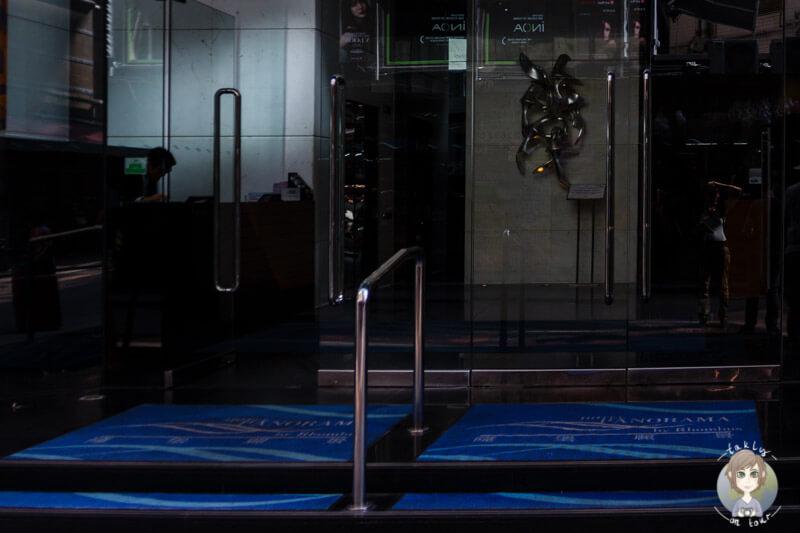 Eingang zum Hotel Panorama by Rhombus, Hong Kong