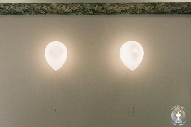 Kreative Luftballon Lampen bei Myssage bei meinem Besuch der Massage in Koeln