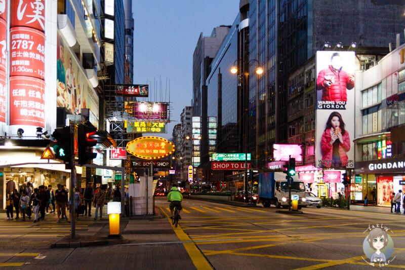 Die Nathan Road in Hong Kong