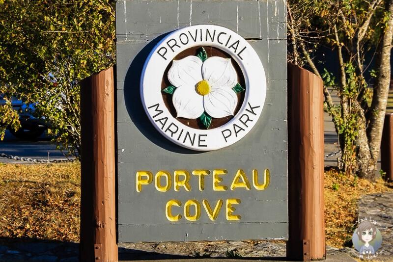 Eingang des Porteau Cove Provincial Parks in British Columbia