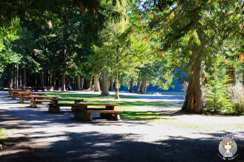 Picknickplätze im Alice Lake Procincial Park, Kanada