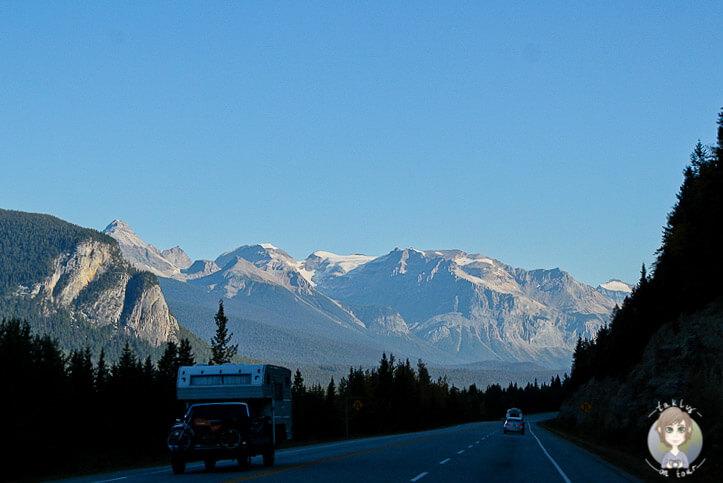 Auf der Fahrt Richtung Field, Kanada