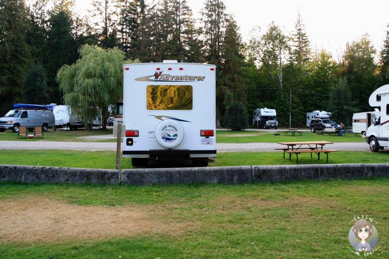 Auf dem Williamson Lake Campground, Revelstoke, Kanada