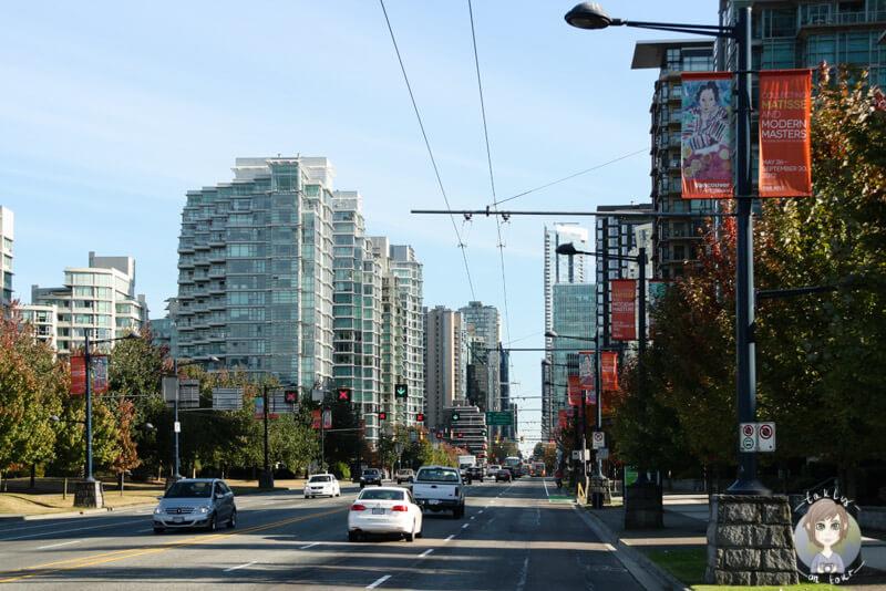Auf der Fahrt durch Vancouver, Kanada