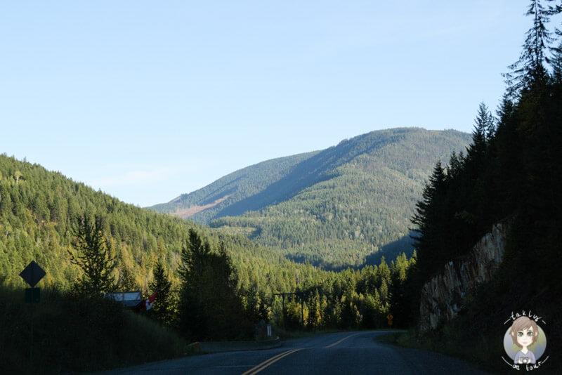 Auf der Fahrt nach Needles, British Columbia, Kanada