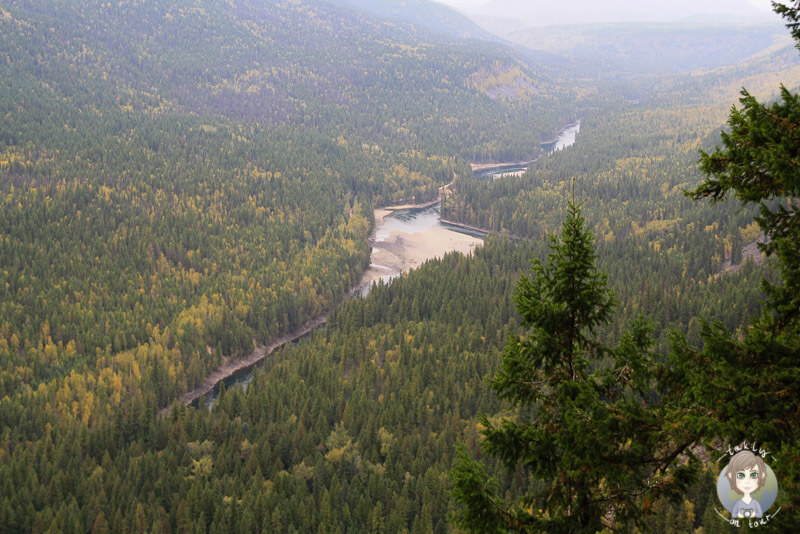 Blick über den Wells Gray Provincial Park, BC, Kanada