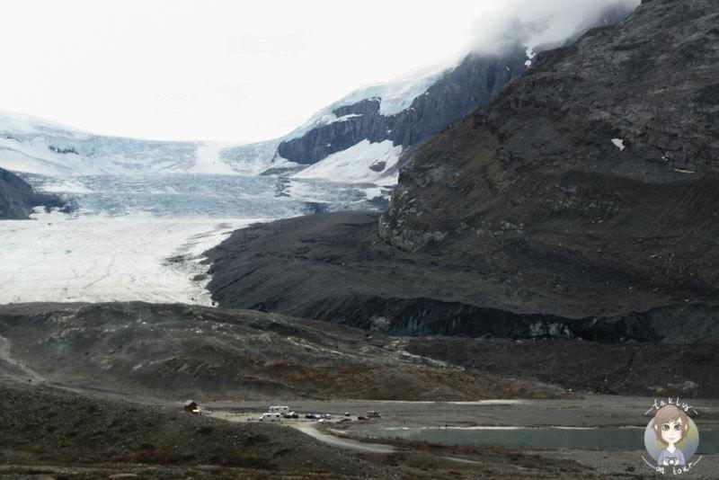 Toller Blick auf den Athabasca-Gletscher, Alberta, Kanada