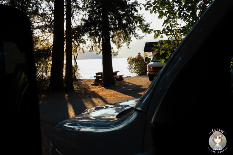 Blick auf den Howe Sound vom Camper
