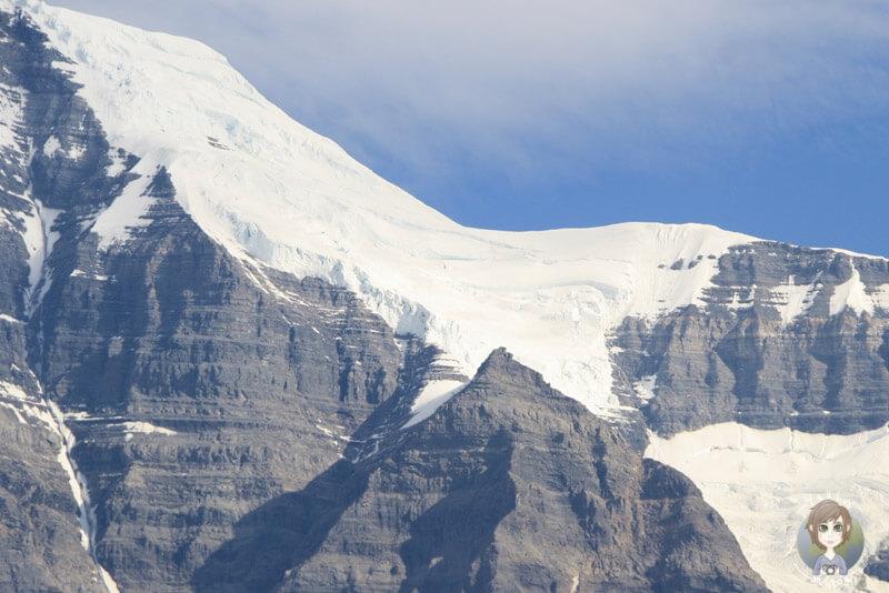 Schnee auf dem Mount Robson, BC, Kanada