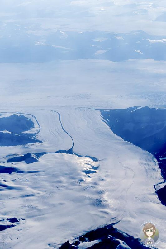 Blick auf einen Gletscher in Grönland