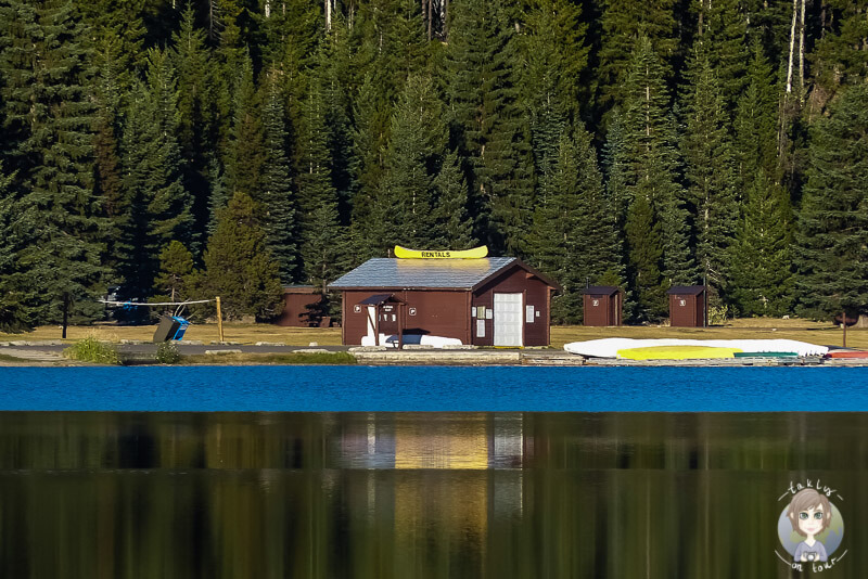 Boat Rental am Lightning Lake, Manning Provincial Park, Kanada