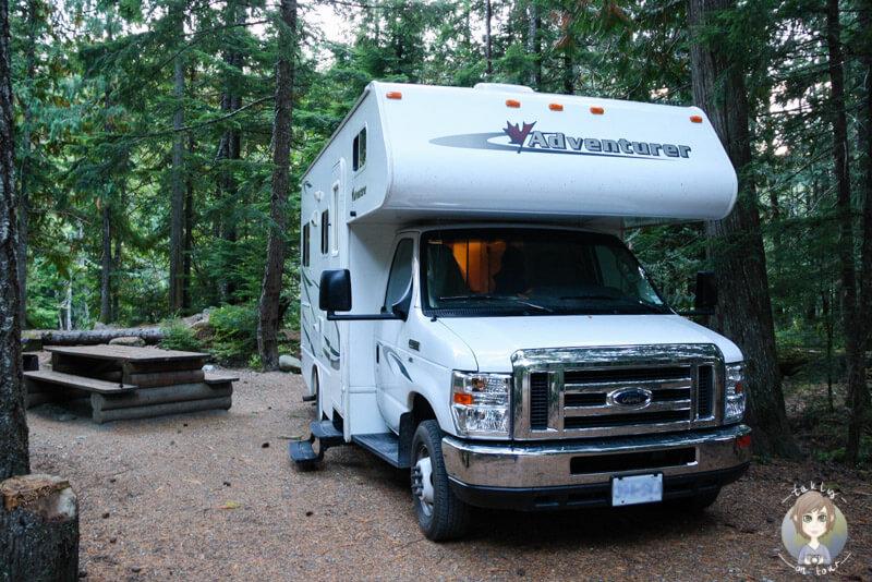 Cal Cheak Campground, Whistler, British Columbia, Kanada