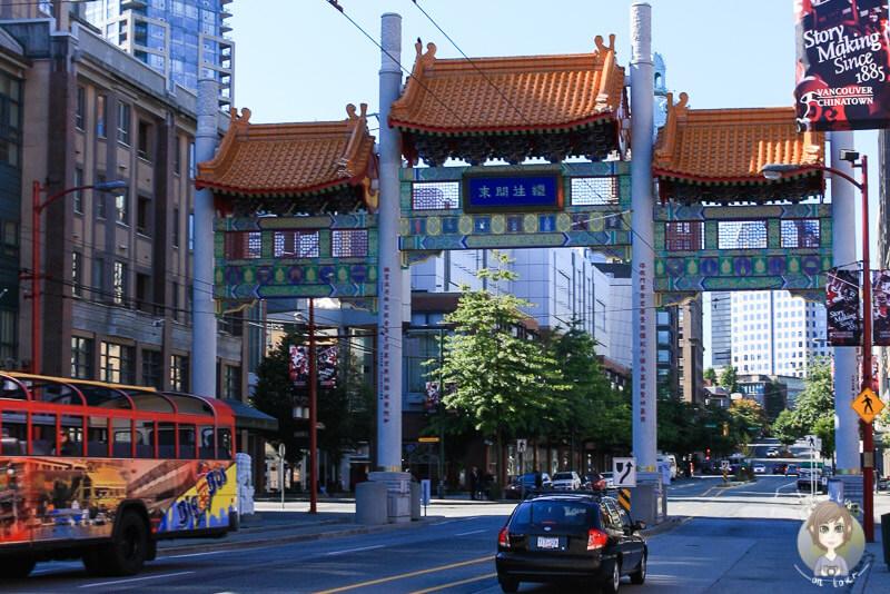 Das Tor zum China Town in Vancouver, Kanada