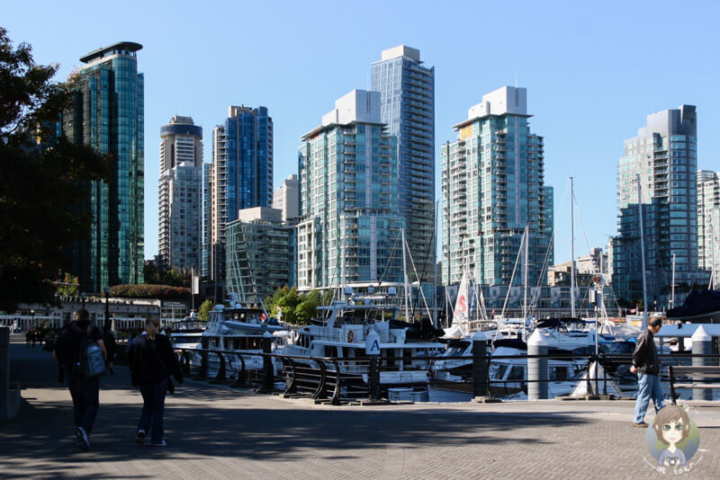 Die Promenade am Coal Harbour in VC, Kanada