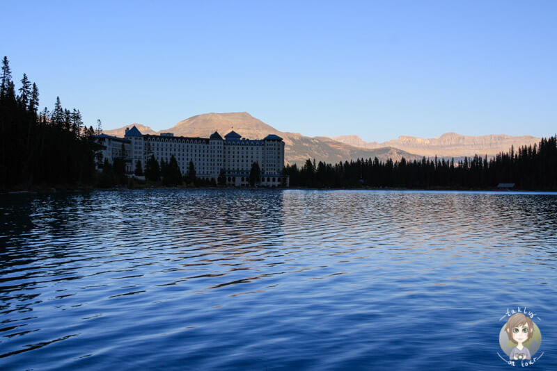 Das Fairmont Chateau Lake Louise direkt am See, Kanada