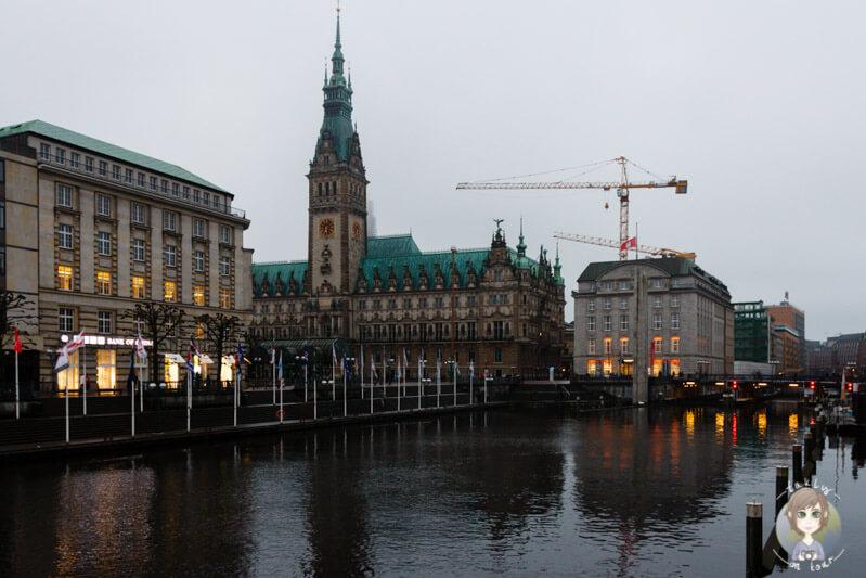 Das Rathaus in Hamburg