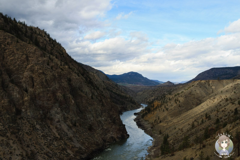 Das Tal des Fraser River in Lillooet, BC, Kanada