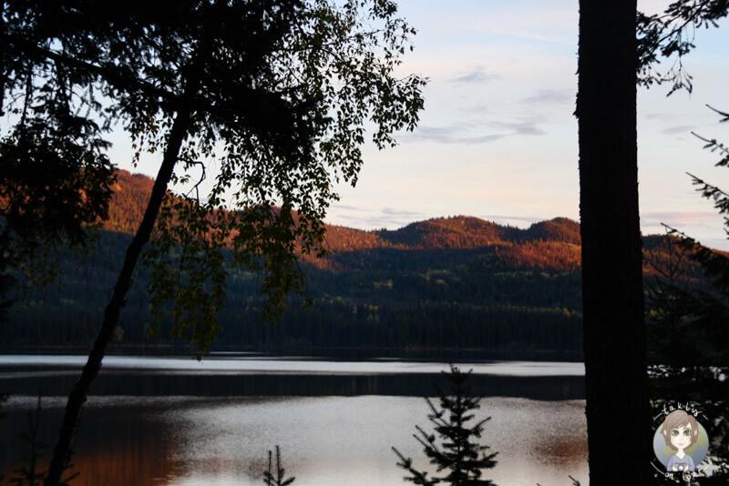 Der Birch Lake bei Sonnenuntergang